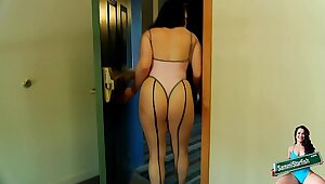 Daring Hotel Dare - Thong & Fishnets
