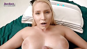 Slutty Blonde Milf with Huge Tits Takes a Facial - Vanessa Cage