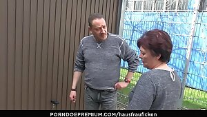 HAUSFRAU FICKEN - BBW Amateur German granny tie the knot enjoys hardcore carnal knowledge set-to