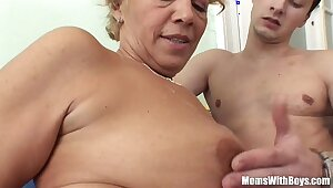 Young Souled Granny Sucking And Fucking Hard Cock