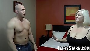 LACEYSTARR - GILF seduces big dicked hunk secure hard hanker