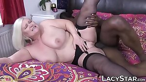 Granny dicked before interracial ancient vs young facial