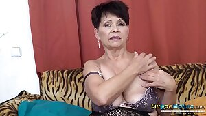 EuropeMaturE Solo Lady Self Rabble-rousing Footage