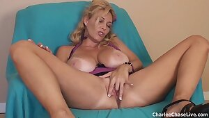 Heavy Titty Tampa MILF Charlee Chase Dildo Play