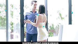 SheWillCheat - Hot Get hitched Devours Trainers Cock