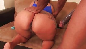 Big Booty Glowering MILF Takes Big Cock