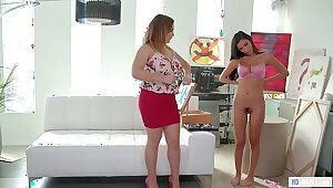 MOMMY'S Cookie - Hot as A hell stepdaughter posing for mom - Natasha On the mark with an increment of Gianna Dior