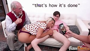FILTHY FAMILY - Everyone Joins This Twisted Orgy, Also Grandpa!