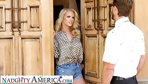 Naughty America - Rachael Cavalli fucks a virgin side of her son