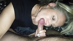 hanysy hot 43 year old milf is doing a blow job cum nigh mouth
