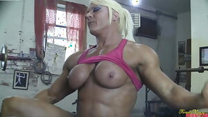 British muscle woman gets will not hear of pussy eaten and fucked