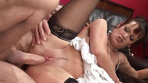 Old big unearth man fucks be imparted to murder hot big tits brunette MILF constant