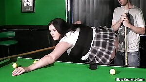 Cheating not far from BBW regarding fishnets insusceptible to pool table